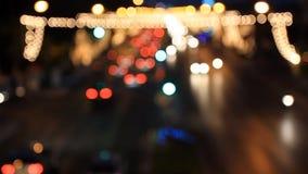 移动交通在晚上 影视素材