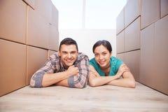 移动在一个新房里。 免版税图库摄影