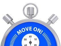 移动在秒表 免版税图库摄影