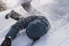 滚动在雪 库存图片