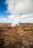 活动地热冰岛 免版税库存图片
