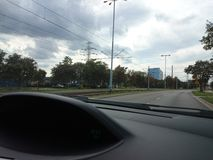 移动城市 图库摄影