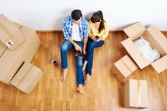 移动夫妇 免版税库存图片