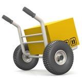 移动式摄影车提供包裹 图库摄影