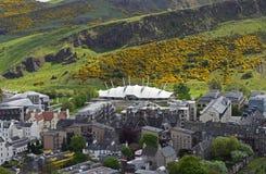 动态地球在爱丁堡苏格兰 免版税库存照片