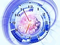 动态的时钟 库存例证