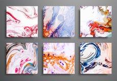 动态的背景 时髦招贴,被设置的商务盖子 大理石五颜六色的作用 抽象页海报模板为 库存例证