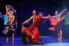 动态颜色裙子这奥地利的世界舞蹈 库存照片