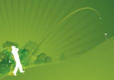 动态高尔夫球时髦的swing01 库存照片