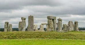 动态hdr高图象全景范围射击了stonehenge日落英国威尔特郡 免版税图库摄影