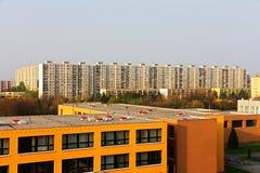 活动房屋在布拉格 库存图片