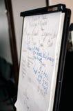 活动挂图在训练屋子里 免版税库存照片