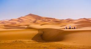 移动撒哈拉大沙漠 免版税库存照片