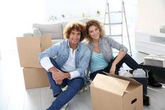 移动新的家 免版税库存照片