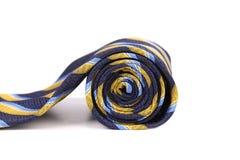 滚动有条纹的领带 图库摄影