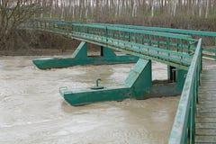 移动桥梁 库存图片