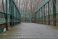 移动桥梁 库存照片
