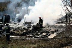 活动消防队员消防队员培训 免版税库存图片