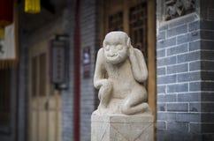 动物中国猴子雕象黄道带 库存照片