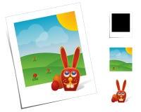 动物兔宝宝复活节场面 免版税库存图片