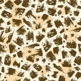 动物刷子冲程无缝的样式背景 库存照片