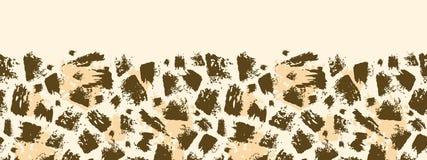 动物刷子冲程水平的无缝的样式 免版税库存图片