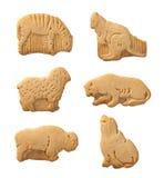 动物剪报薄脆饼干路径 库存图片