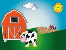 动物动画片农场 免版税库存照片