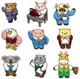 动物动画片图标工作者 库存图片