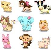 动物动画片图标 库存图片