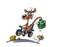 动物动画片滑行车 皇族释放例证