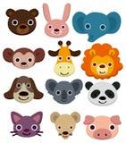 动物动画片题头图标 库存照片