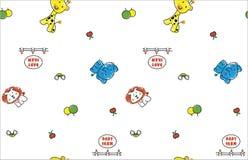 动物动画片样式样式 免版税库存图片