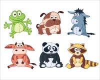动物动画片被画的现有量查出的向量白色 免版税库存照片