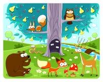 动物和结构树。 库存照片