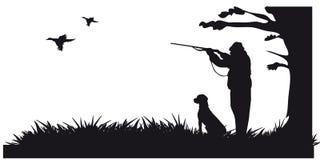 动物和landscapes2成为原动力的狩猎  库存照片