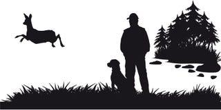 动物和landscapes6成为原动力的狩猎  免版税库存图片