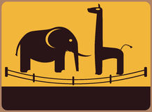 动物园信息板材。 免版税库存图片