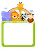 动物园动物和框架 库存图片