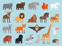 动物园动物平的象 库存例证