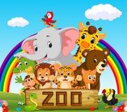 动物园动物的汇集与指南的 库存照片