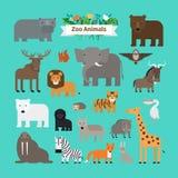 动物园动物象 库存例证