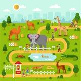 动物园地图 向量例证