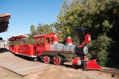 动物园蒸汽引擎火车 免版税库存照片