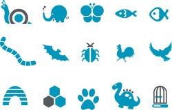 动物图标集 库存照片