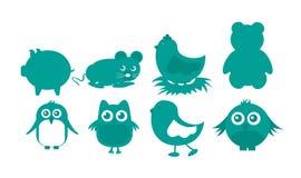 动物图标 免版税图库摄影