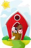 动物在谷仓 免版税库存照片