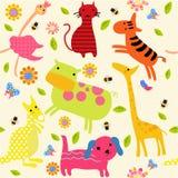 动物墙纸 向量例证