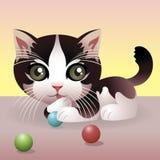 动物婴孩收集小猫 皇族释放例证