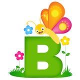 动物字母表信件B 免版税库存照片